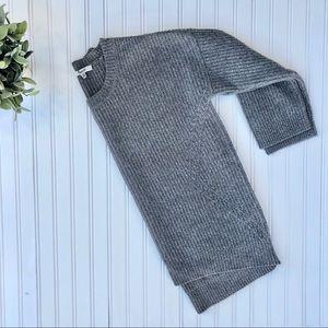 Madewell Viewpoint Gray Merino Wool Sweater